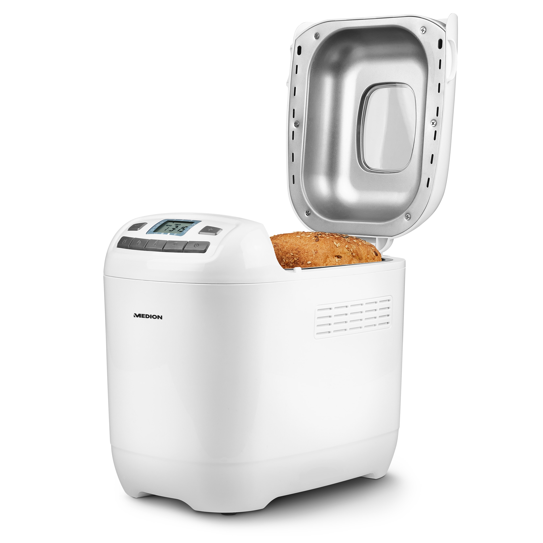 MEDION® Machine à pain MD 18636 | 12 programmes de cuisson | 3 degrés de brunissage sélectionnables | 650 Watts | capacité de 1000g