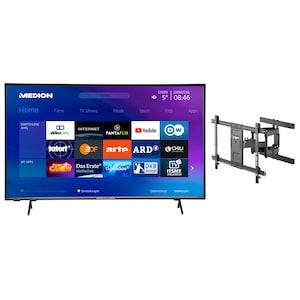 MEDION® LIFE® X15554 138,8 cm (55'') Ultra HD Smart-TV + GOOBAY Pro FULLMOTION (L) Wandhalterung - ARTIKELSET