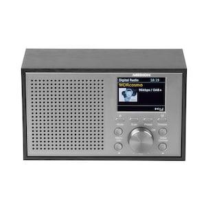 MEDION® LIFE® P66099 DAB+/UKW-Radio im Retro-Look, 6,1 cm (2,4'') Farb-Display, 20 W Ausgangsleistung, 2 W RMS, DAB+, PLL-UKW, RDS, Display Dimmer, Digitaler Soundprozessor