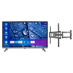 MEDION® LIFE® P13225 80 cm (31,5'') Full HD Smart-TV + GOOBAY Basic FULLMOTION (L) Wandhalterung - ARTIKELSET
