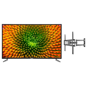 MEDION® LIFE® P16512 163,8 cm (65'') Ultra HD TV + GOOBAY Basic FULLMOTION (L) Wandhalterung - ARTIKELSET