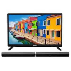 MEDION® Offre combinée ! LIFE E12837 LCD-TV 27,5 Pouces avec Lecteur DVD & P61202 Barre de son 2.0 avec Bluetooth
