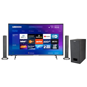 MEDION® BundelDEAL ! LIFE® P14327 43 inch Smart-TV & P61220 Bluetooth Soundbar met Subwoofer