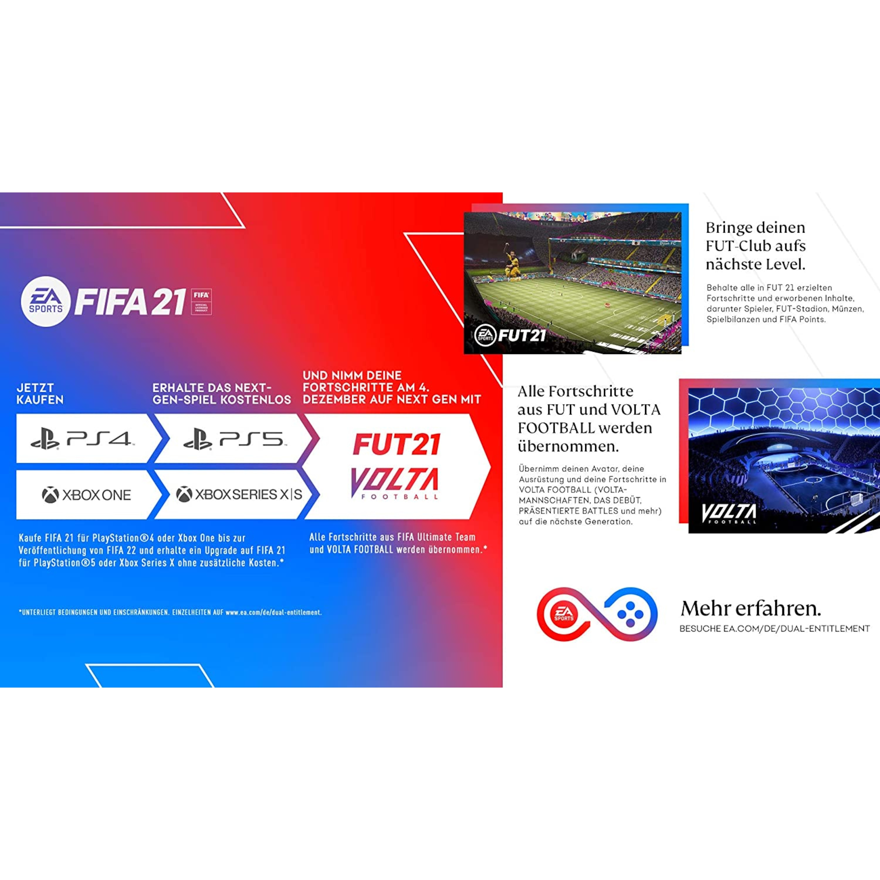FIFA-21-Xbox-One-Standard-Edition-CD-Videospiel-DISC-EA-Sports-Series-X-Upgrade Indexbild 2