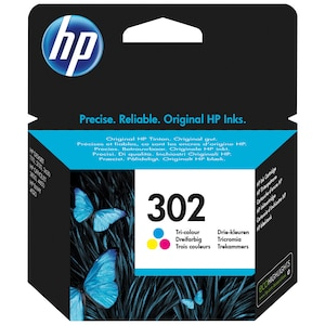 HP 302 Original Druckerpatrone Farbe, Cyan/Magenta/Gelb, gestochen scharfe Texte, Bilder und Grafiken in brillanten Farben, zum Drucken von hochwertigen Fotos und Dokumenten, zuverlässige Druckqualität
