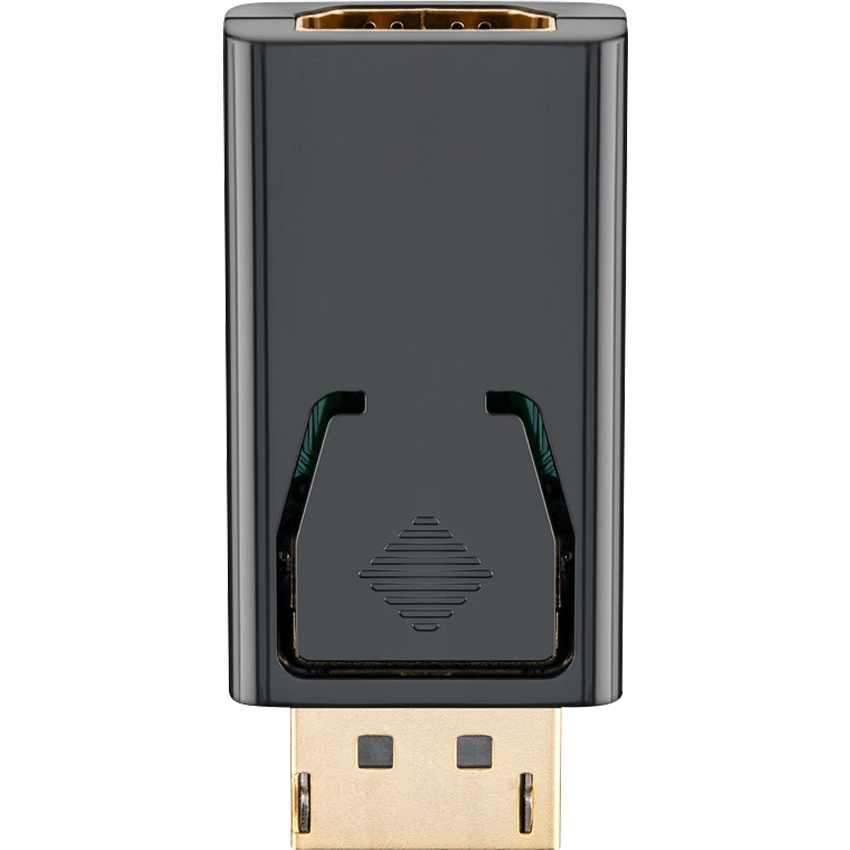 GOOBAY DisplayPort/HDMI™ Adapter 1.1, DisplayPort-Stecker auf HDMI™-Buchse, Plug & Play, vergoldete Kontakte, Stecker mit Verriegelung