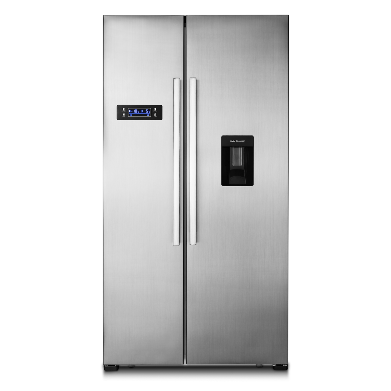 MEDION® Side-by-Side Kühl- und Gefrierschrank MD 37250, 514l Fassungsvermögen, integrierter Wassertank, automatische Abtaufunktion