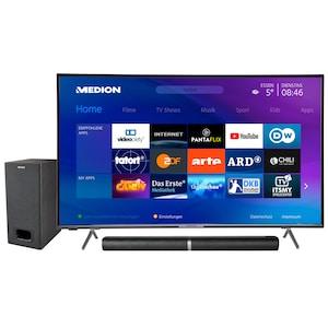 MEDION® BundelDEAL ! LIFE® X15000 50 inch UHD-TV & P61220 Bluetooth 2.1 soundbar met subwoofer