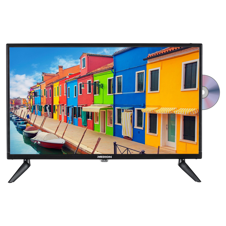MEDION® LIFE® E12423 TV | 23,8 pouces | Full HD | HD Triple Tuner | lecteur DVD intégré | Adaptateur de voiture | Lecteur multimédia intégré | CI+