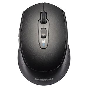 MEDION® LIFE P81010 Draadloze muis | Bluetooth | 2,4 GHz-bediening | Optische muissensor | 6 knoppen en scrollwiel | DPI-schakelaar | Ergonomisch