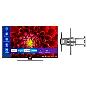 MEDION® Offre combinée ! LIFE® S14310 Ultra HD Smart-TV 43 pouces & GOOBAY Basic FULLMOTION (L) Fixation mural