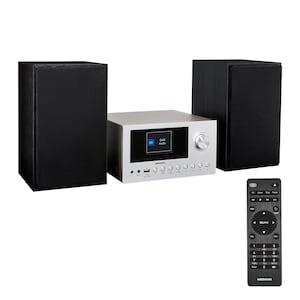 MEDION® LIFE® P85003 Micro-système audio | radio Internet/DAB+/PLL-UKW stéréo avec 40 présélections de stations chacune | écran couleur TFT 2,8'' | Bluetooth® 5.0 | lecteur CD | WLAN | USB | puissance de sortie musicale max. 2 x 150 W