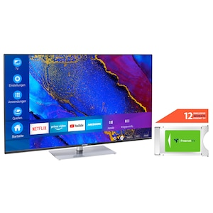 MEDION® LIFE® X15562 138,8 cm (55'') Ultra HD Smart-TV + DVB-T 2 HD Modul (12 Monate freenet TV gratis) - ARTIKELSET