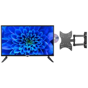 MEDION® LIFE® E12463 59,9 cm (23,6'') LCD-TV mit DVD-Player + GOOBAY Basic FULLMOTION (D20) Wandhalterung - ARTIKELSET