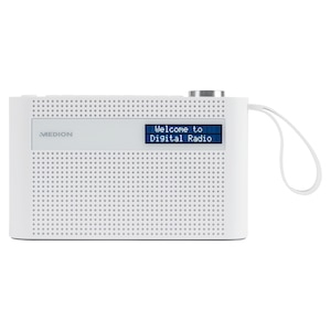 MEDION® LIFE® P66007 Tragbares DAB+ Radio, dimmbares Dot-Matrix-Display, DAB+/UKW, Bluetooth® 5.0, integr. Akku, kompaktes Design, Trageschlaufe, 3 W (RMS)