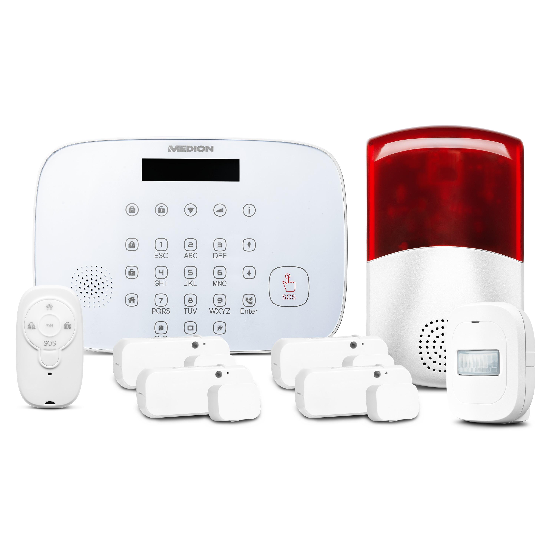 MEDION® Smart Home Alarmsystem Zentrale P85731 inkl. umfangreichem Zubehör - Artikelset 1.1