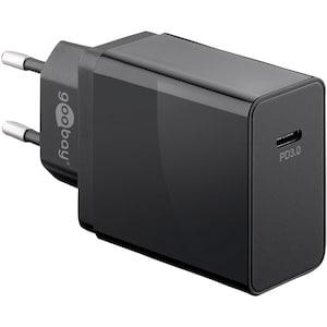 WENTRONIC Chargeur rapide, USB-C ™ avec alimentation électrique, se recharge jusqu'à 4 fois plus rapidement que les chargeurs standard