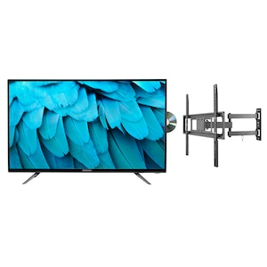 MEDION® Offre combinée ! LIFE® P14085 TV 40 pouces & GOOBAY Basic FULLMOTION (D20) Support mural