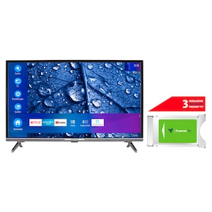 MEDION® LIFE® P13225 80 cm (31,5'') Full HD Smart-TV + DVB-T 2 HD Modul (3 Monate freenet TV gratis) - ARTIKELSET