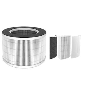 MEDION® Filtre de purification de l'air 3 en 1 pour MD 19778 | Préfiltre à grille | Filtre HEPA (H13) | Filtre à charbon actif