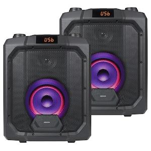 MEDION® 2x LIFE® P61988 Trolley Partylautsprecher mit Bluetooth® - ARTIKELSET