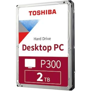 TOSHIBA P300 Desktop PC Hard Drive, interne HDD, 3,5'' Festplatte mit 2 TB Speicherkapazität, 7200 U/min, leistungsstark & zuverlässig