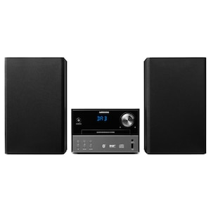 MEDION® LIFE® P64190 Mikro Audio System mit DAB+ und Bluetooth, CD/MP3-Player, USB, AUX-Eingang, UKW/MW-Radio, 2 x 15 W RMS
