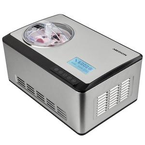MEDION® Eismaschine MD 18883, Kapazität für 2 L Eis (Füllmenge: 1,2 L), selbstkühlend mit Kompressor, geeignet für die Zubereitung von Eiscreme, Frozen Joghurt & Sorbet, LC Display & Sensor-Touch-Bedienfeld
