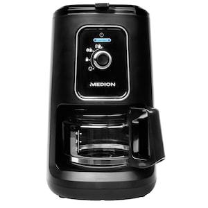 MEDION® Kaffeemaschine mit Mahlwerk MD 17384, 2in1-Funktion, 600 ml Tankvolumen, Permanentfilter, 2 Mahlstufen, 900 Watt