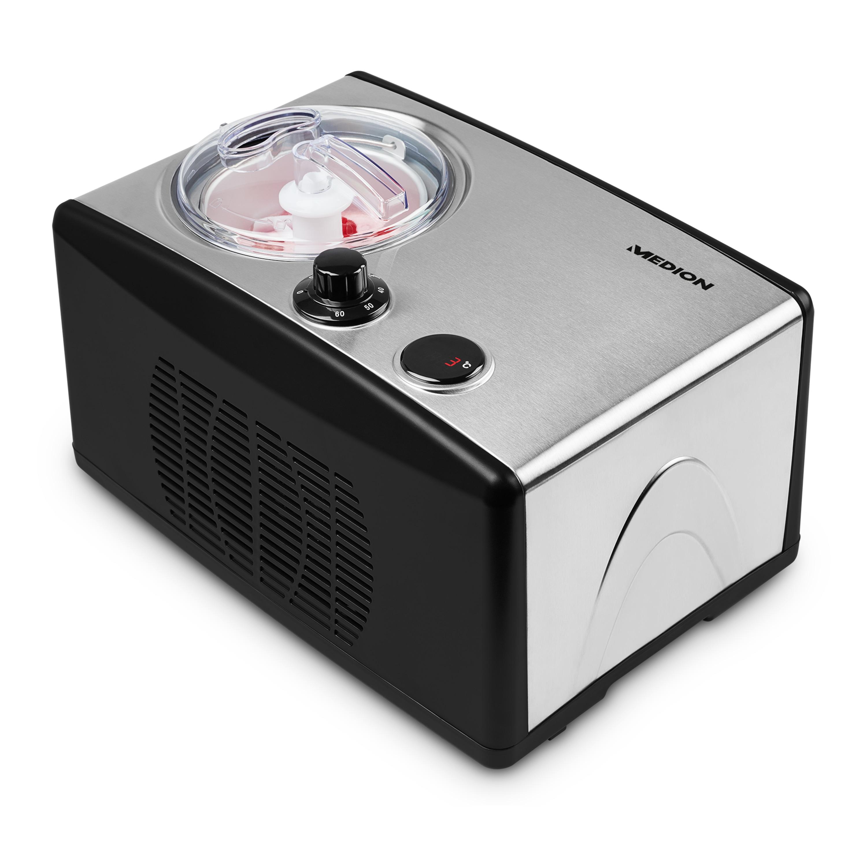 MEDION® Ijsmachine MD 18387 | Voor ijs, bevroren yoghurt en sorbets | Inhoud 1,5 liter | 150 Watt vermogen