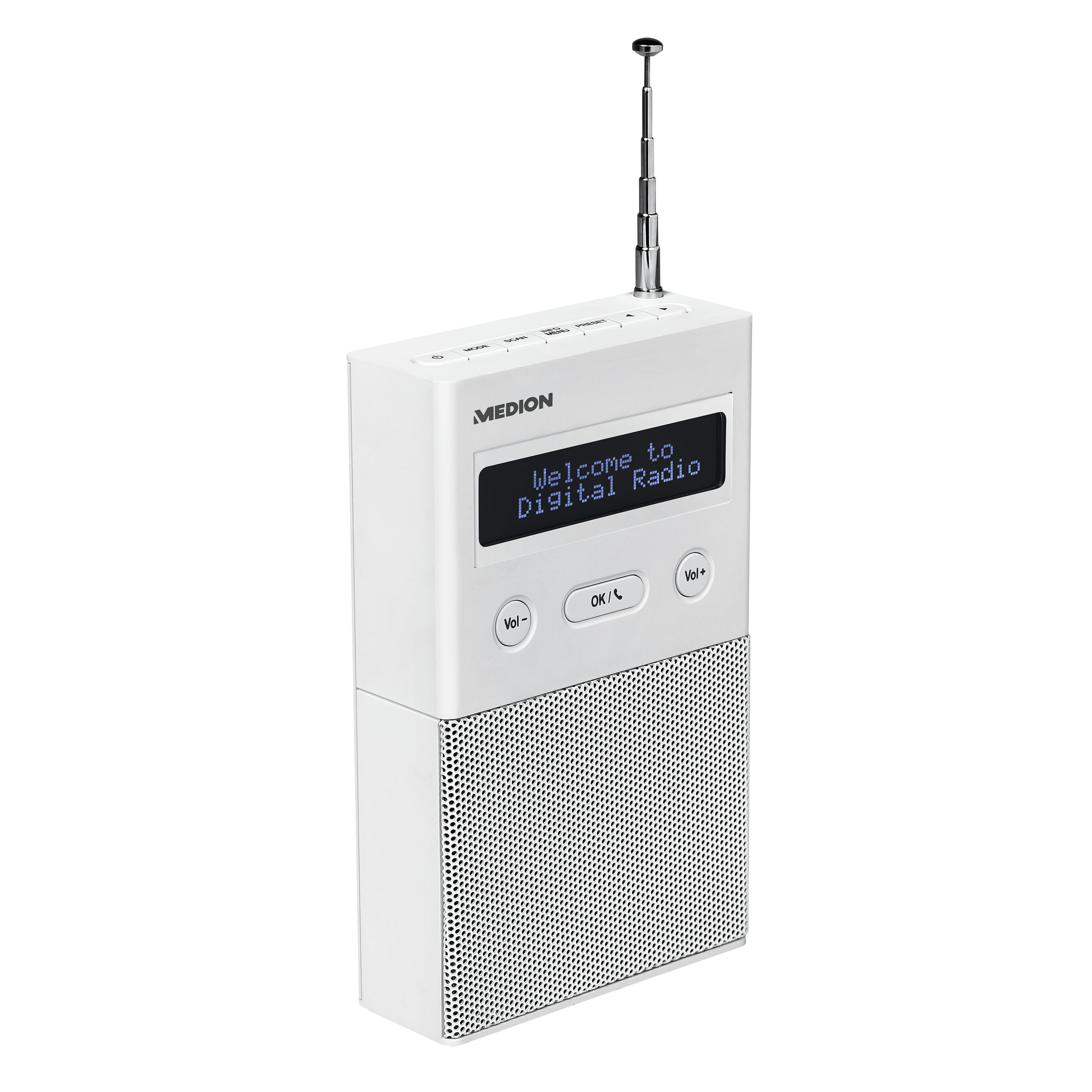 MEDION® LIFE® P65715 DAB+ Steckdosenradio mit Bluetooth®, LC-Display, 2 W RMS, DAB+, PLL-UKW, Radio Data System