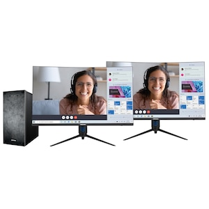MEDION® AKOYA® P66089 Performance PC + 2x AKOYA® P53292 31,5'' LED-Backlight Curved Monitor - ARTIKELSET