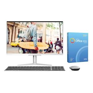 MEDION® AKOYA® E23403, Intel® Core™ i3-1005G1, Windows10Home, 60,5 cm (23,8) FHD Display, 256 GB SSD, 8 GB RAM, Aluminium-Design, All-in-One PC, inkl. SoftMaker Office Standard 2021