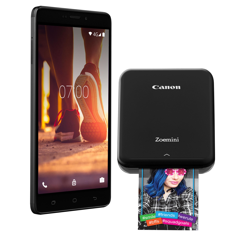 MEDION® LIFE® X5520 Smartphone mit 13,97 cm (5,5'') Full-HD Display + Tragbarer Drucker CANON Zoemini P89242 - ARTIKELSET