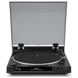 MEDION® DT 210 USB Schallplattenspieler, Hochwertiges Magnet-Tonabnehmer-System, USB-Anschluss zum Digitalisieren von Schallplatten, Eingebauter Phono Vorverstärker