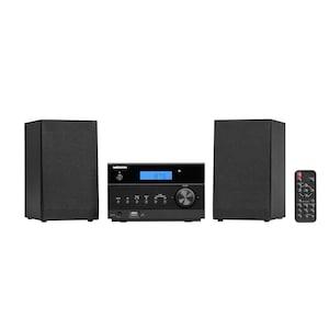 MEDION® LIFE® P64122 Micro-Audio-System mit kabelloser Musikübertragung, 30 Senderspeicher, Bluetooth®, CD-Player, AUX, USB, 2 x 50 W max. Musikausgangsleistung