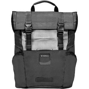 EVERKI ContemPRO Roll Top Notebook Rucksack, für Laptops bis 15,6'' und iPad/Pro/Kindle/Tablet, personalisierbares Fenster, geräumige Fächer, multifunktionale Seitenfächer, Trolley-Lasche