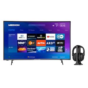 MEDION® Offre combinée ! LIFE® P14327 Full HD Smart-TV 43 pouces & E62003 Casque sans fil