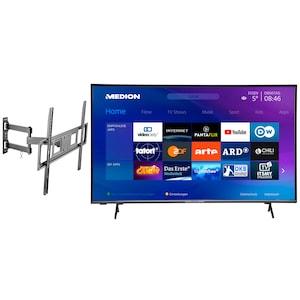 MEDION® BundelDEAL ! LIFE® X15000 50 inch UHD-TV & WENTRONIC Basic FULLMOTION (L) Muurbevestiging