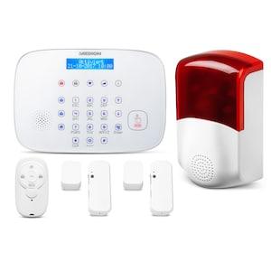 MEDION® Smart Home Alarmsystem Zentrale P85731 inkl. Türkontakt P85703, Sirene P85714, Fernbedienung P85713 - ARTIKELSET