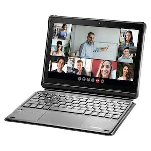 MEDION® Schutzhülle mit abnehmbarer Bluetooth® Tastatur (MD61059), integrierter Standfuß und Stifthalter, kompatibel mit den MEDION® Education Tablets