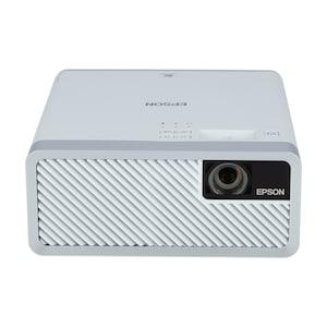 EPSON EF 100w Beamer, tragbar und ansprechend, 3LCD-Technologie, RGB-Flüssigkristallverschluss, 150-Zoll-Projektion an Wand oder Decke, langlebige Laserlichtquelle, Streaming