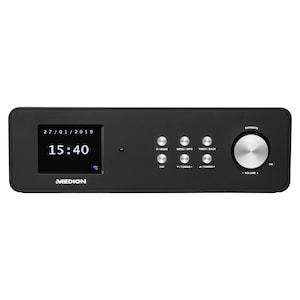 MEDION® LIFE® P85060 DAB+ Küchenradio, 6,1 cm (2,4'') TFT-Farbdisplay, WLAN, DLNA/UPnP, AUX, 2 x 28 W Ausgangsleistung (B-Ware)