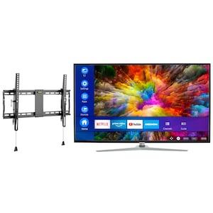 MEDION® LIFE® X15511 Smart-TV, 138,8 cm (55'') Ultra HD Fernseher, inkl. kippbarer Wandhalterung Pro - ARTIKELSET