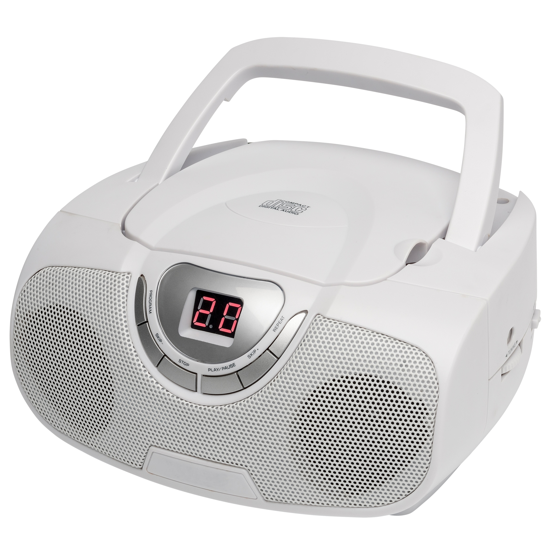 MEDION® LIFE® E65091 Stereo Boombox, UKW/MW Radio-/CD-/Wiedergabe, LED-Display, CD-R/RW kompatibel, AUX, 2 x 10 W RMS