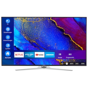 MEDION® LIFE® X16533 Smart-TV, 163,9 cm (65'') Ultra HD Display, HDR, Dolby Vision™, Micro Dimming, MEMC, WCG, PVR ready, Netflix, Amazon Prime Video, Bluetooth®, DTS HD, integrierter Subwoofer, HD Triple Tuner, CI+