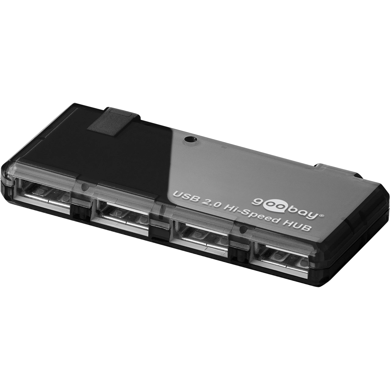 GOOBAY 4 x USB 2.0 | Hi-Speed HUB | Compatible avec USB 1.1 | Jusqu'à 480 Mo/s | Conception compacte