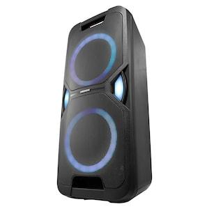 MEDION® LIFE® P67038 Partylautsprecher, PLL-UKW Radio, Bluetooth® 5.0, satter Sound, verschiedene Lichteffekte, X-Bass Bassanhebung, inkl. Mikrofon, 2 x 220 W Musikausgangsleistung