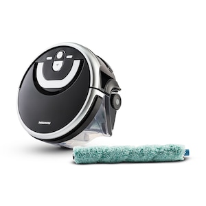 MEDION® Dweilrobot MD 18379 | voor alle harde vloeren | 80 min. werktijd | Intelligente Gyro-technologie | 0,8 l waterreservoir