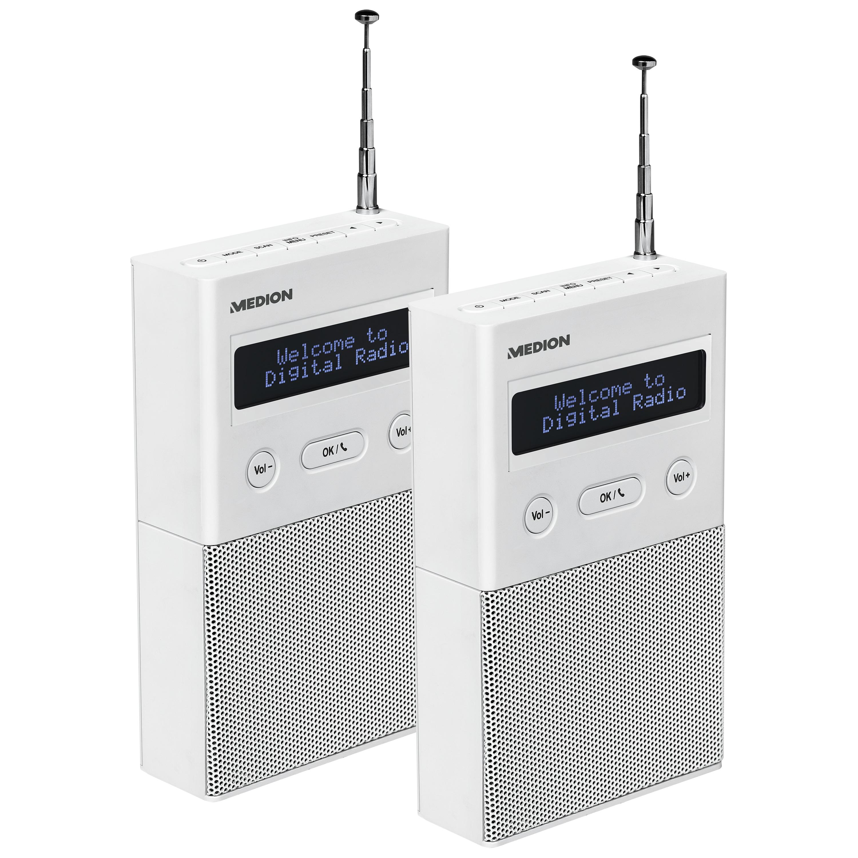 MEDION Musik überall Bundle - 2x DAB+ Steckdosenradio P65715 mit Bluetooth - ARTIKELSET